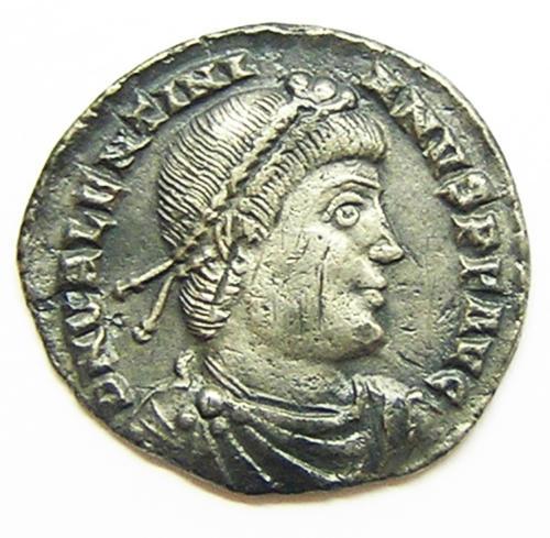 Ancient Roman Silver Siliqua of Emperor Valentinian I