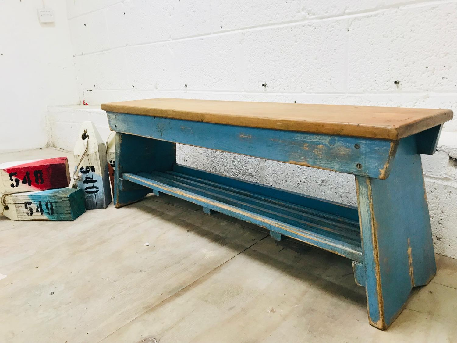 Painted child's bench