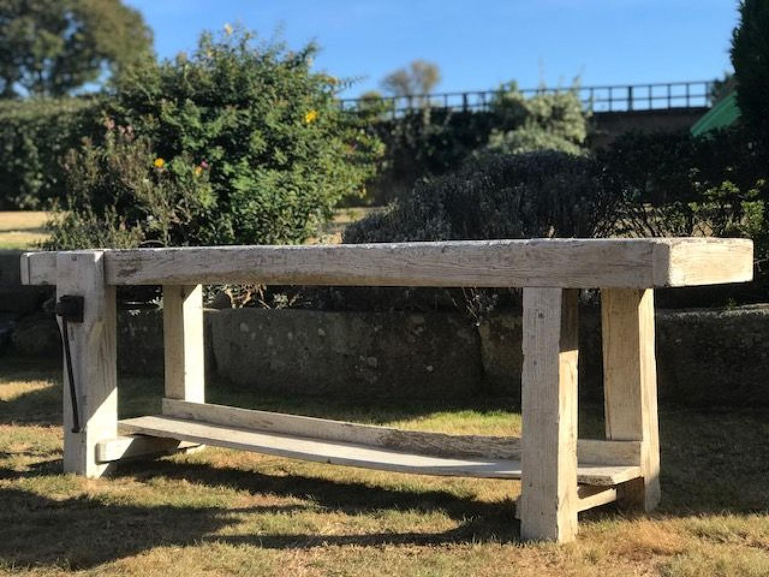 Reclaimed solid Oak French Work bench