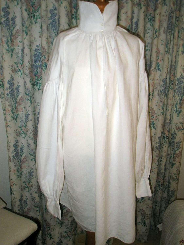 A fine linen Regency gentleman's shirt dated 1821