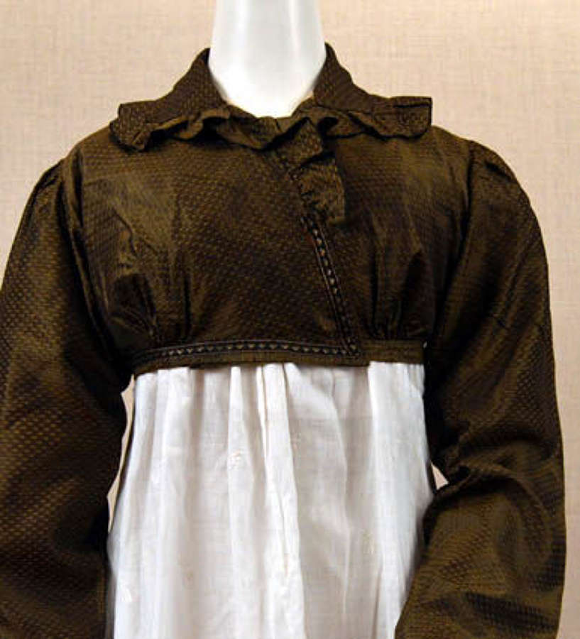 A rare chocolate brown Regency spencer English ca. 1815