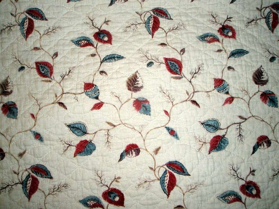 Attractive 18tc antique French summer quilt.  ca.1790