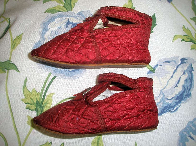 Delightful pair of Regency toddlers shoes ca. 1815