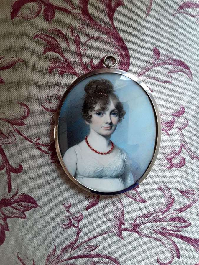 Superb rare miniature of a lady by George Engleheart 1800