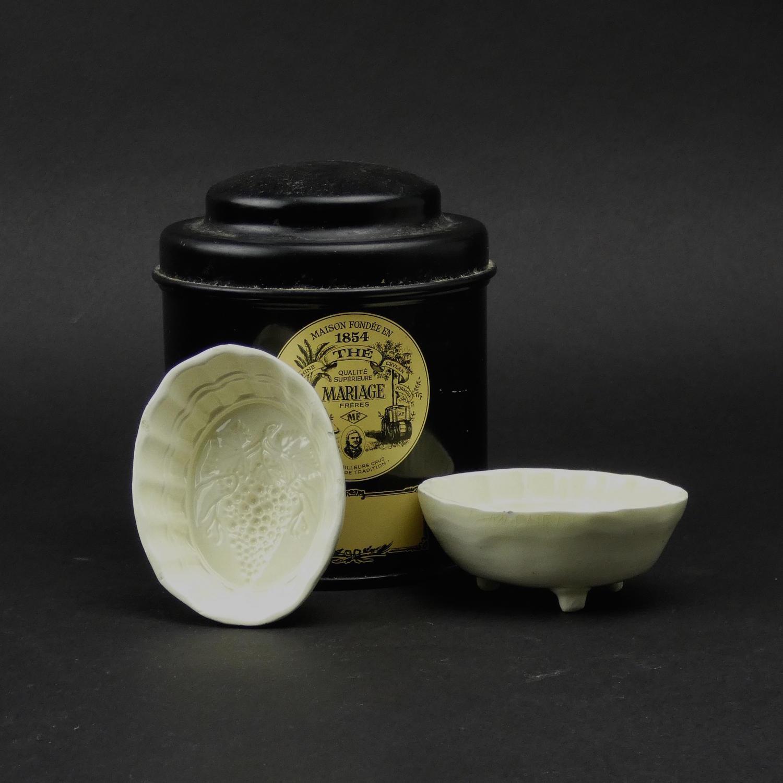 Miniature Creamware Grape Mould.