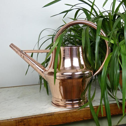 Large Copper Watering Can.