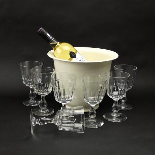 7 Crystal Wine Glasses