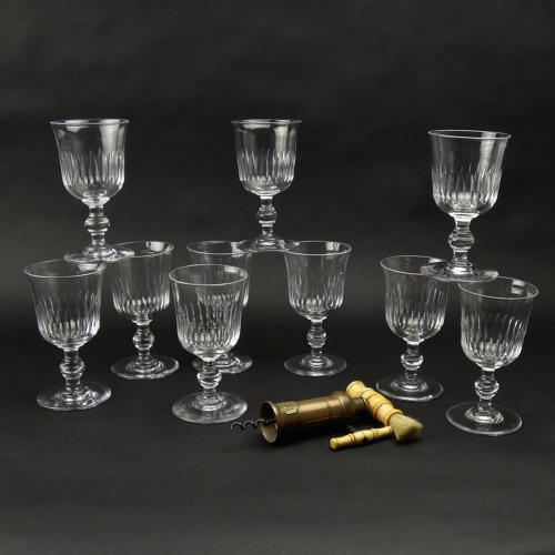 10 Crystal Wine Glasses