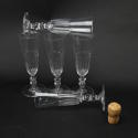 5 Crystal Champagne Flutes - picture 1