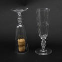 5 Crystal Champagne Flutes - picture 3