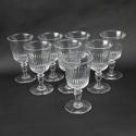 8 Large Crystal Wine Glasses - picture 2