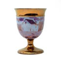 Copper and Pink Lustre Goblet - picture 1