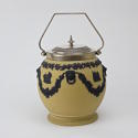 Yellow and Black Jasper Biscuit Barrel - picture 1