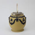 Yellow and Black Jasper Biscuit Barrel - picture 2