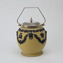 Yellow and Black Jasper Biscuit Barrel - picture 3