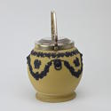 Yellow and Black Jasper Biscuit Barrel - picture 4