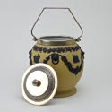 Yellow and Black Jasper Biscuit Barrel - picture 5