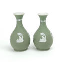 Pair of Green Jasper Vases - picture 2