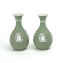 Pair of Green Jasper Vases - picture 3