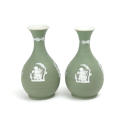 Pair of Green Jasper Vases - picture 4