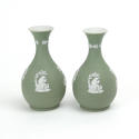 Pair of Green Jasper Vases - picture 5