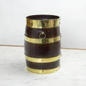 Small, Brass Bound Barrel - picture 2