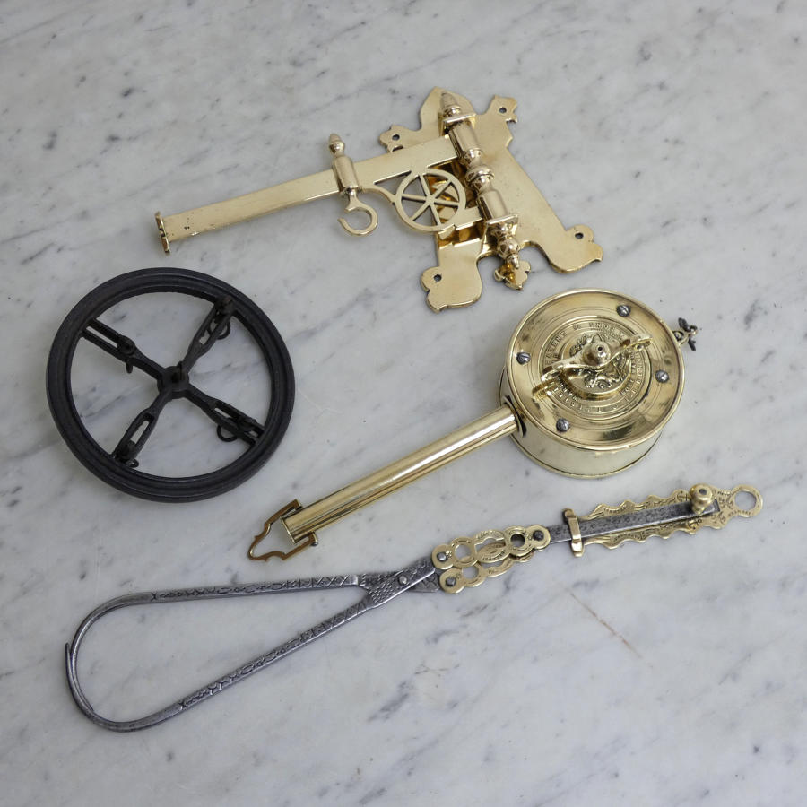 Brass Spit Jack and Meat Hook