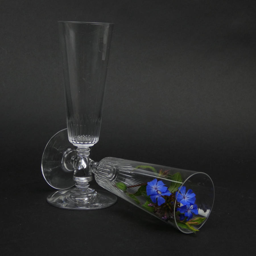 Pair of Crystal Flutes