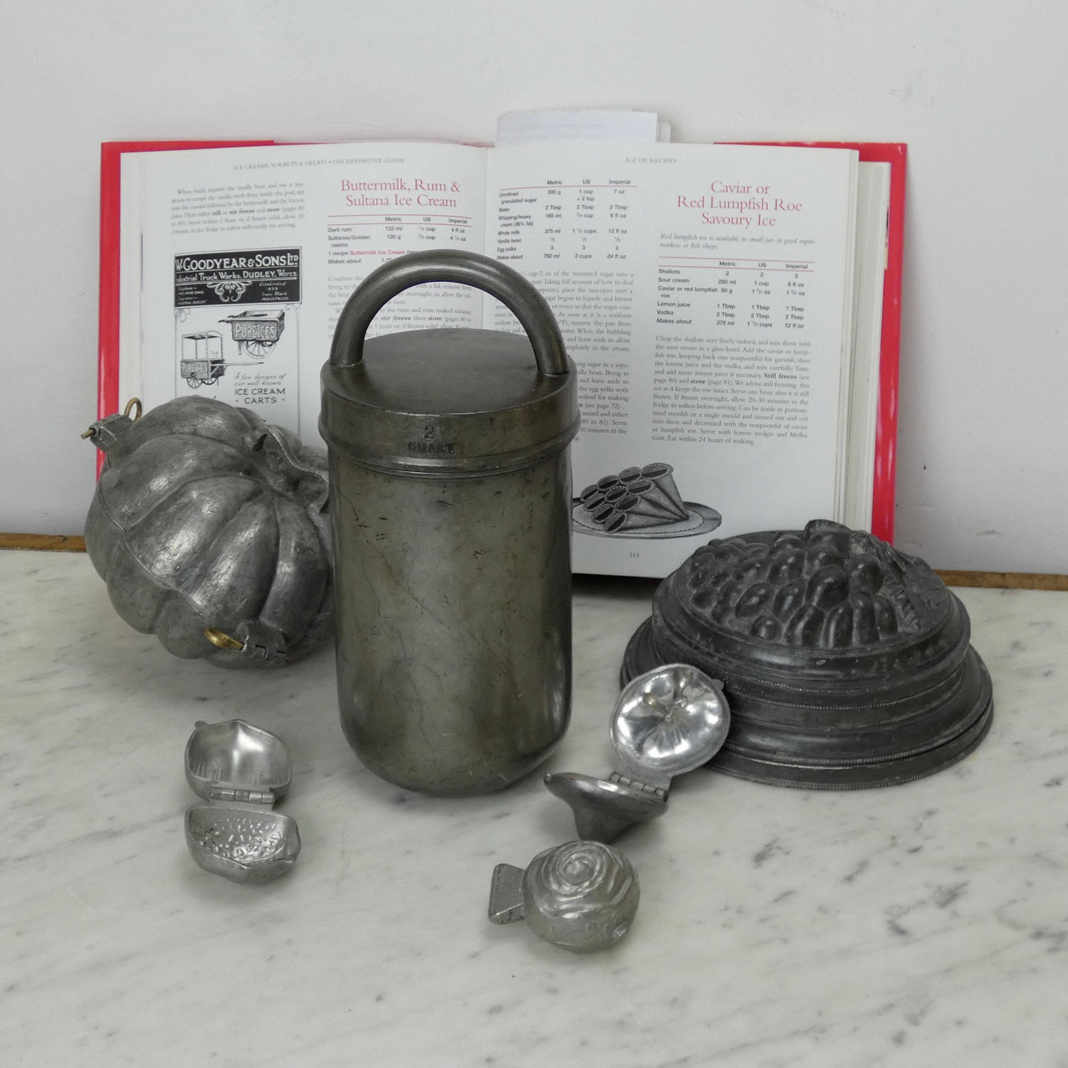 English Pewter Sorbetiere