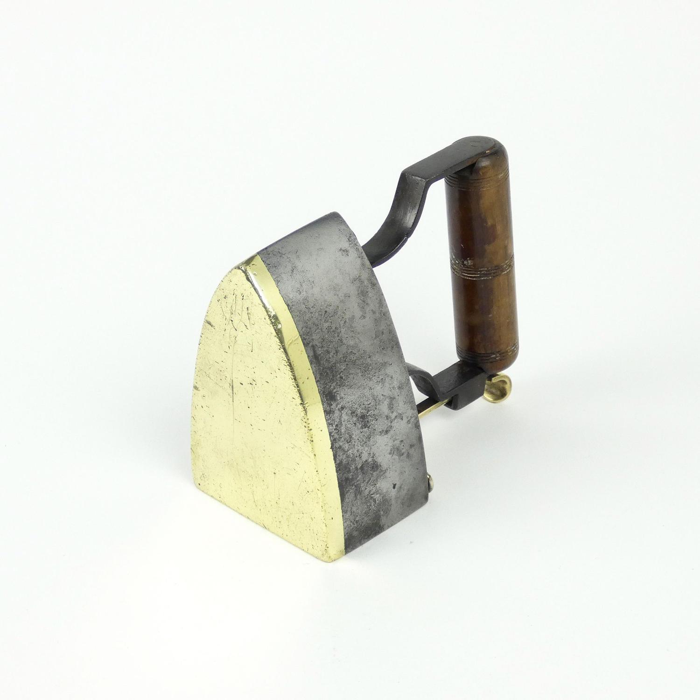 Brass and Cast Iron Box Iron