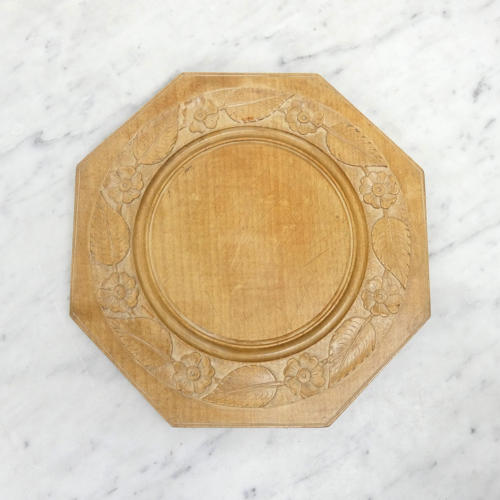 Deeply carved hexagonal board