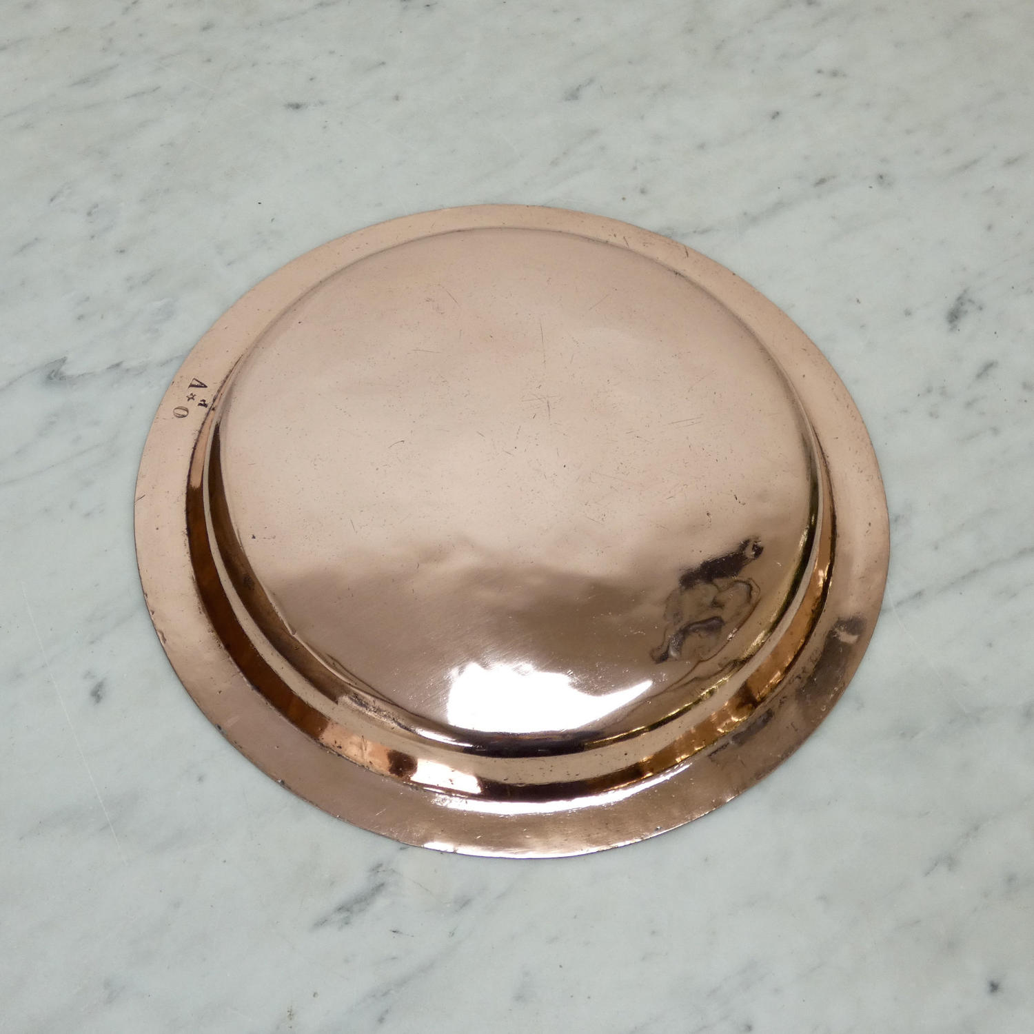 French copper pie plate