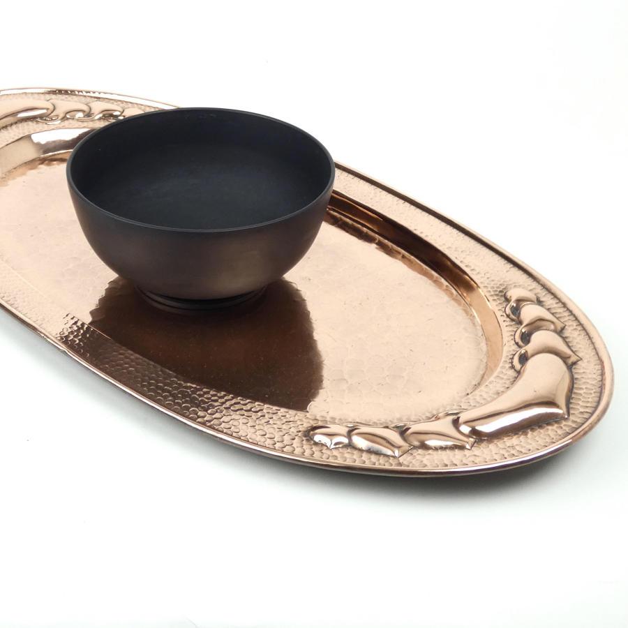 Plain basalt bowl