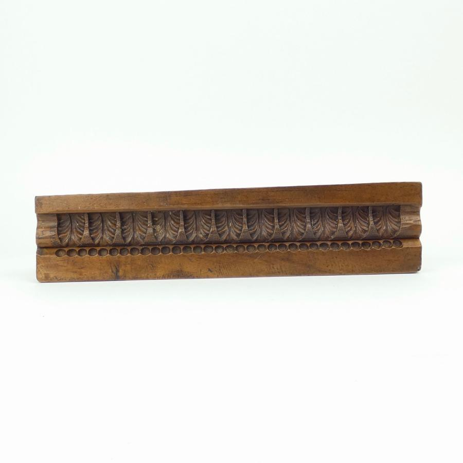 Gesso mould carved in chestnut