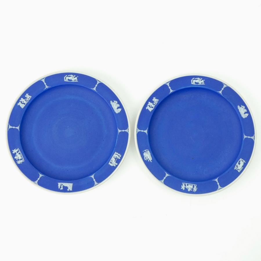 Pair of jasper tea plates