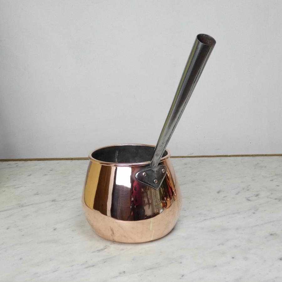 English copper saucepan