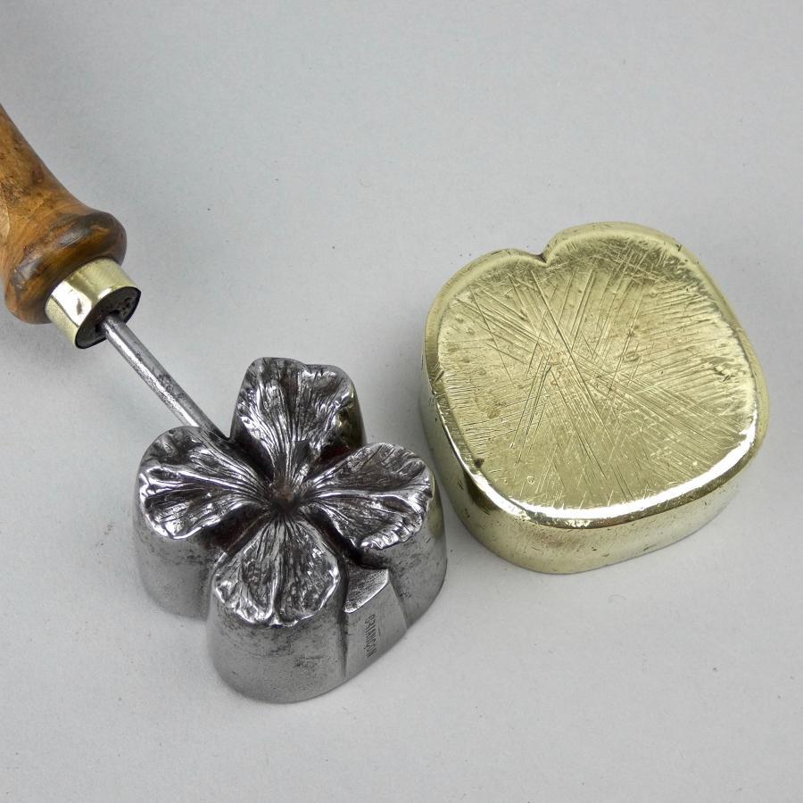 Brass & steel felt iron
