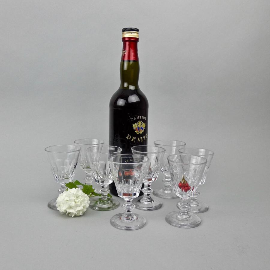 19th cent. crystal port glasses