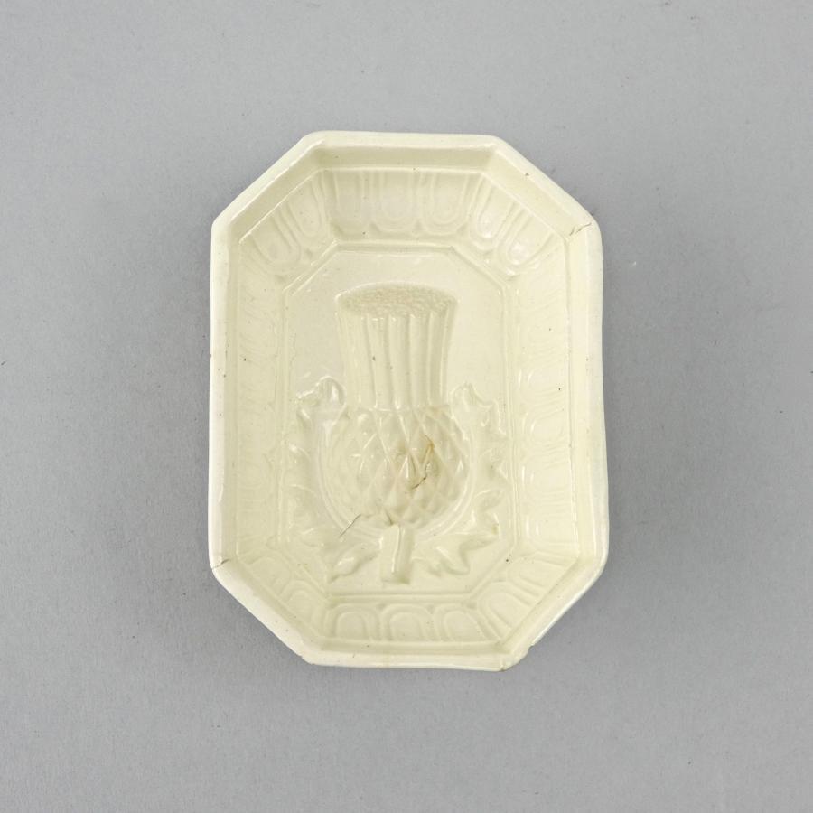 Miniature creamware thistle mould