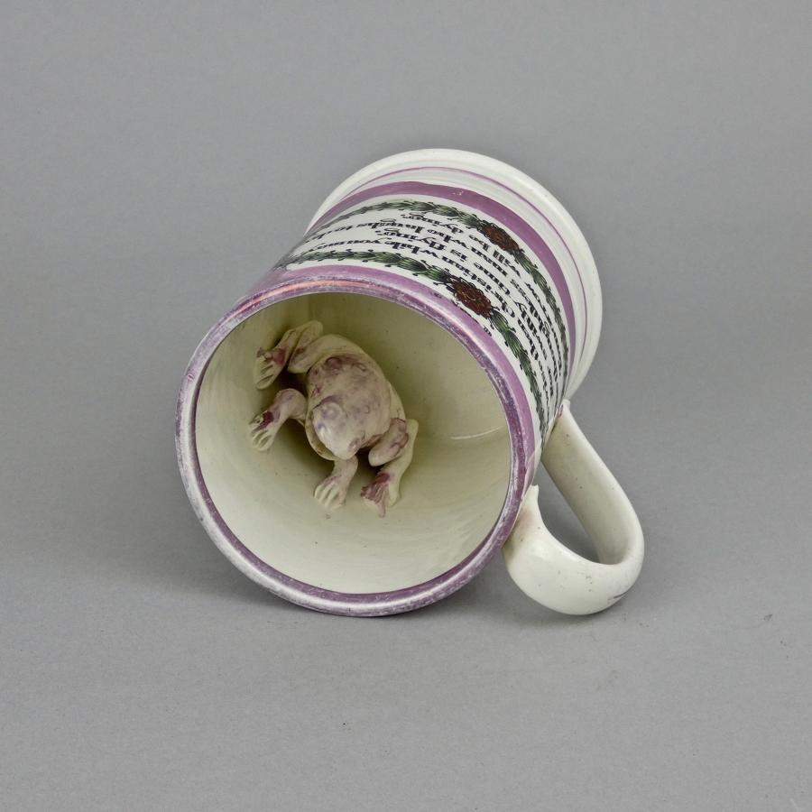 Sunderland lustre frog mug