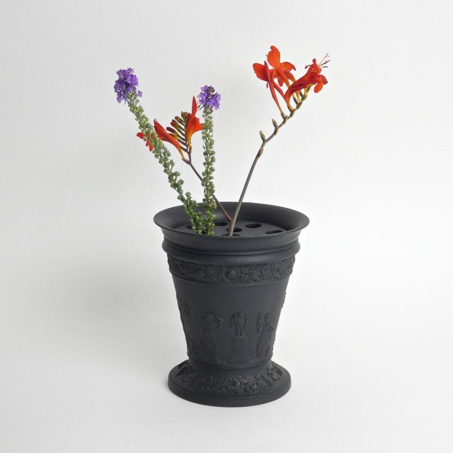 Wedgwood Basalt bough pot