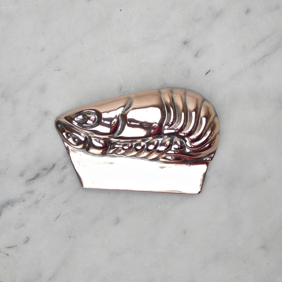 Miniature copper shrimp mould