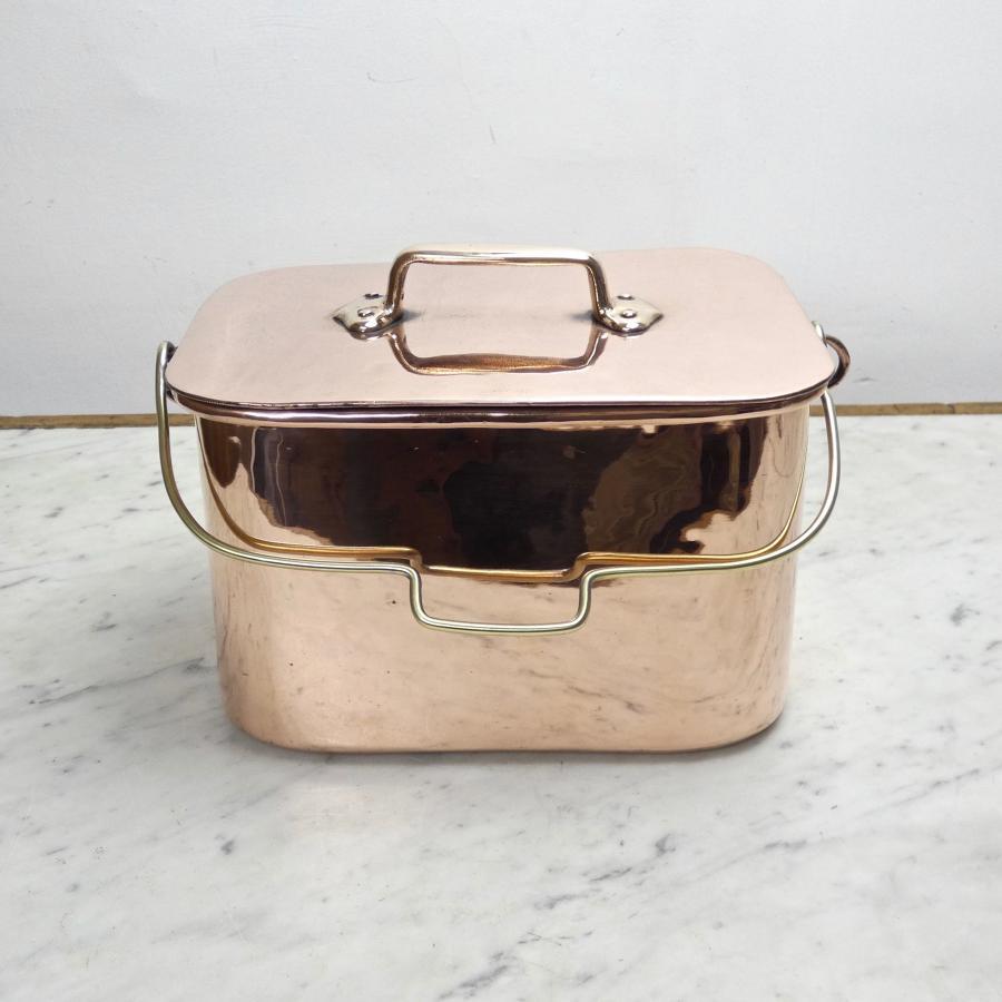 French copper casserole