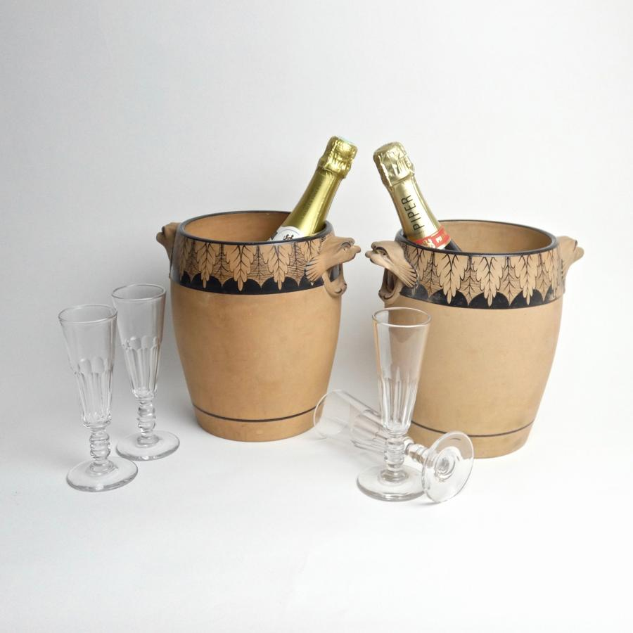 Pair of Davenport champagne coolers