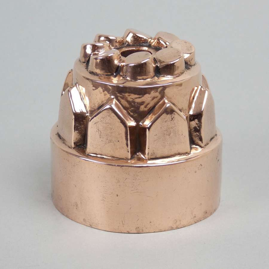 Small, copper pennytop mould