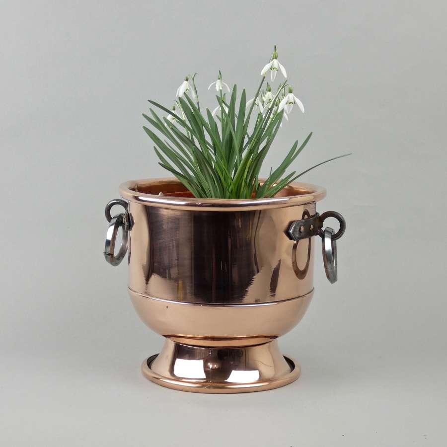 Copper ice bucket or jardiniere