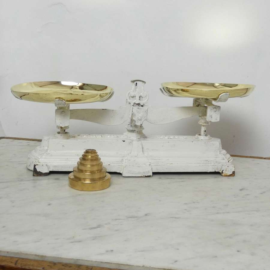 French, cast iron, kitchen scales