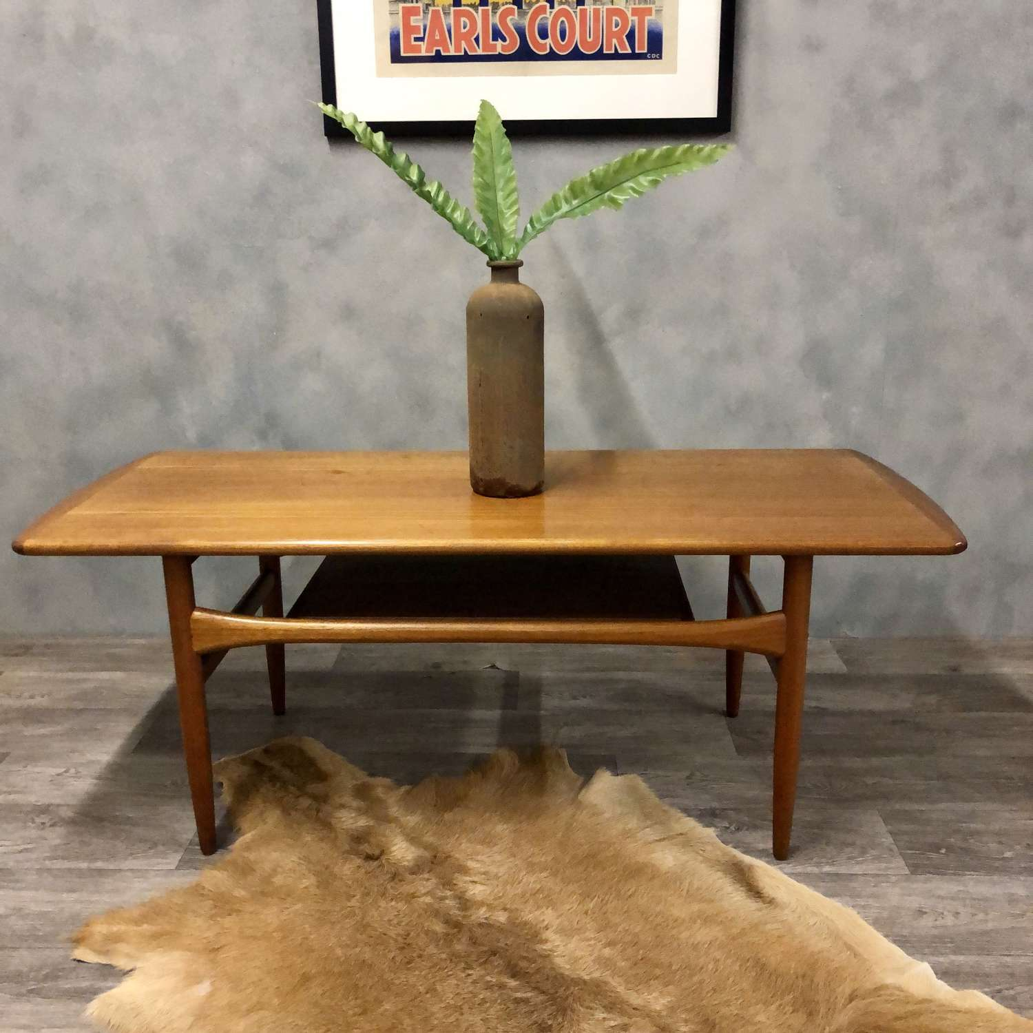 1960s Danish teak coffee table