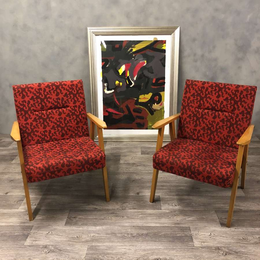 German lounge cocktail chairs 1950s