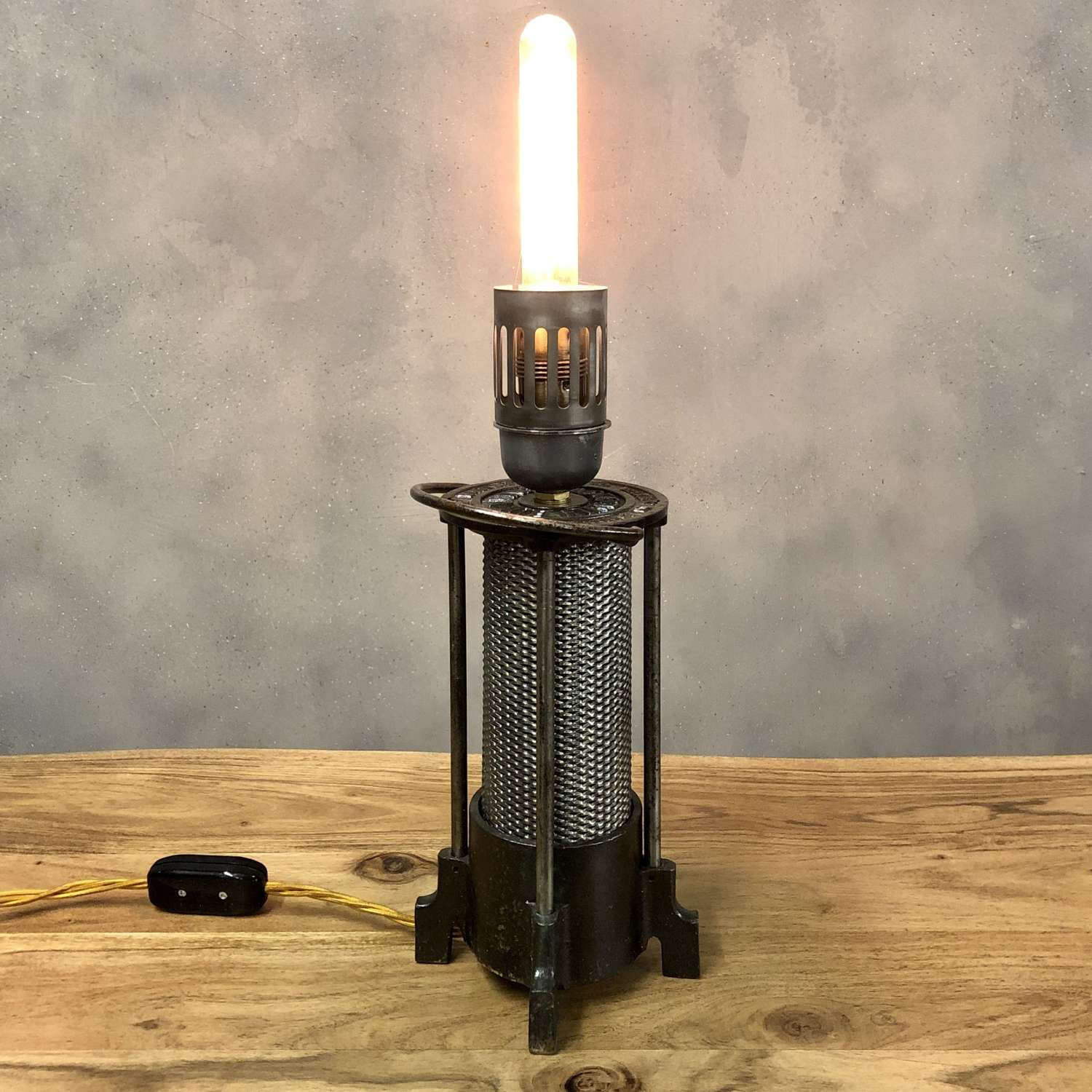Industrial lamp converted heater